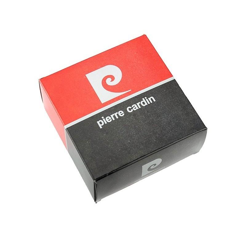 Černý pánský kožený opasek Pierre Cardin Georges