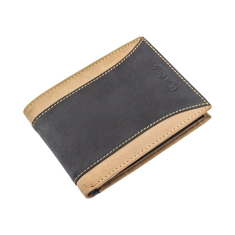 Pánská kožená peněženka Pierre Cardin Dan - černo-hnědá