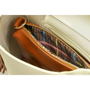 Dámská kabelka Doca 13408 - krémová