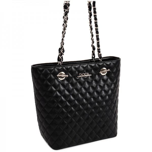 Dámská kabelka Doca 13431 - černá