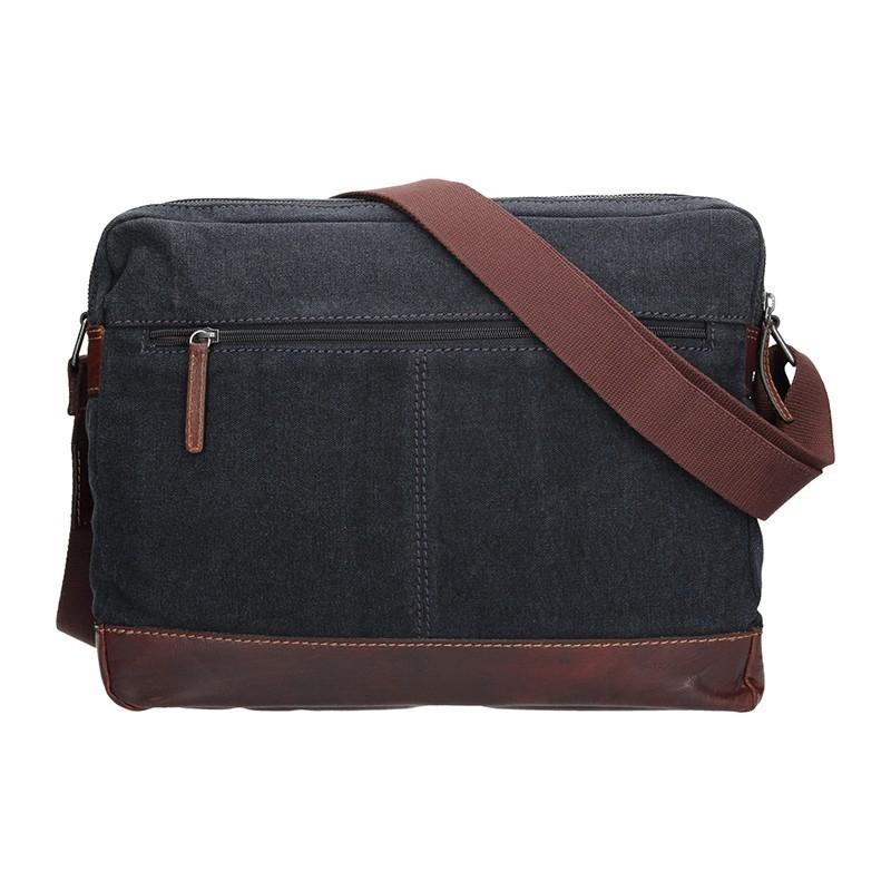 Pánská taška přes rameno Lagen Marlon - černo-hnědá