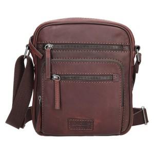 Pánská kožená taška přes rameno Lagen Daniel - hnědá