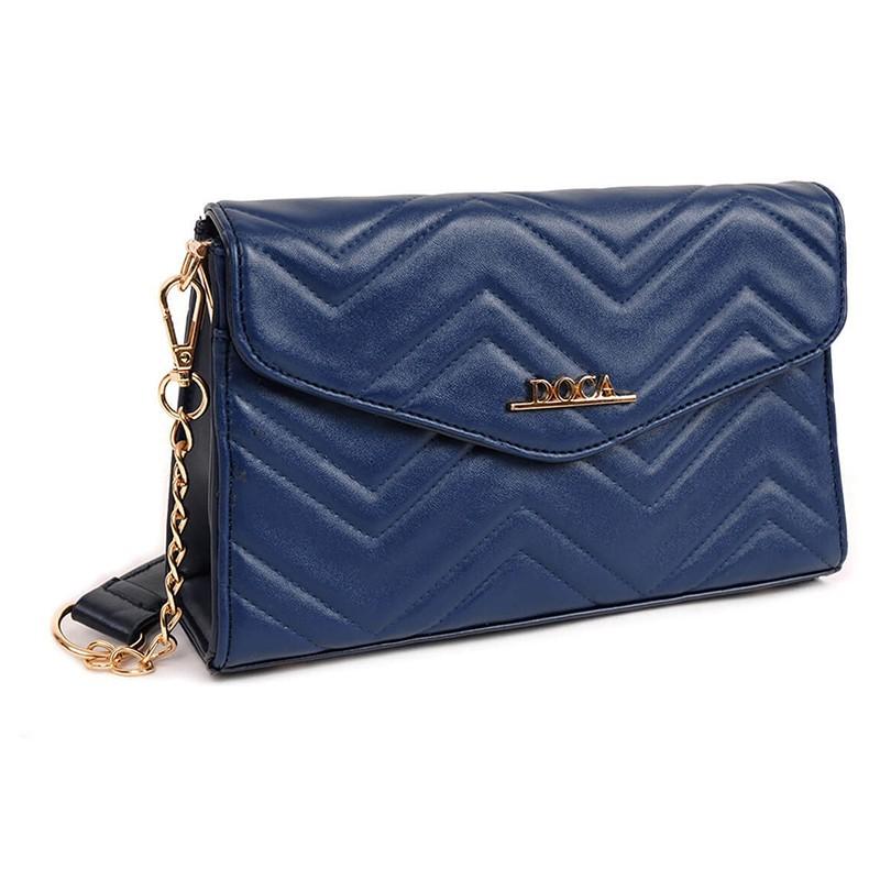 Dámská crossbody kabelka Doca 13446 - modrá