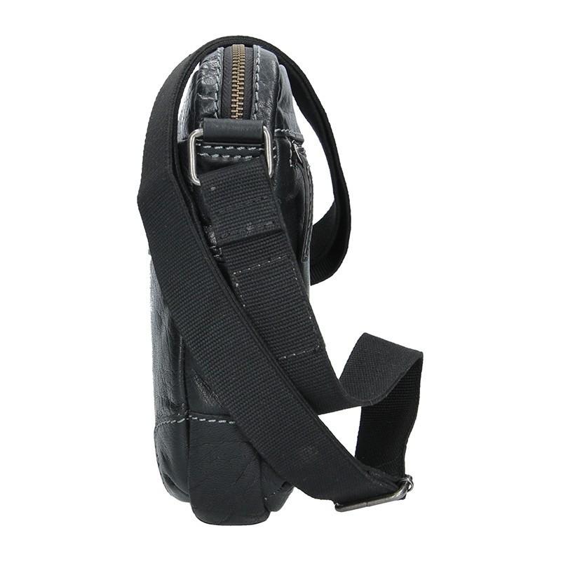 Pánská kožená taška přes rameno Lagen Armareto - černá