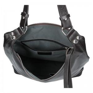 Dámská kožená kabelka Facebag Fionna glassy - černá