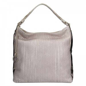Dámská kožená kabelka Facebag Margaret - béžová