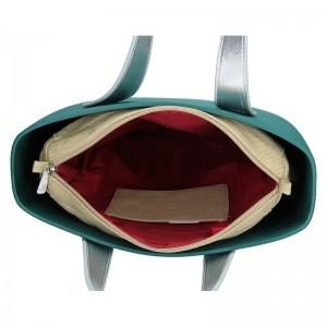 Dámská trendy kabelka Ju'sto J-Half Emma - zeleno-červená