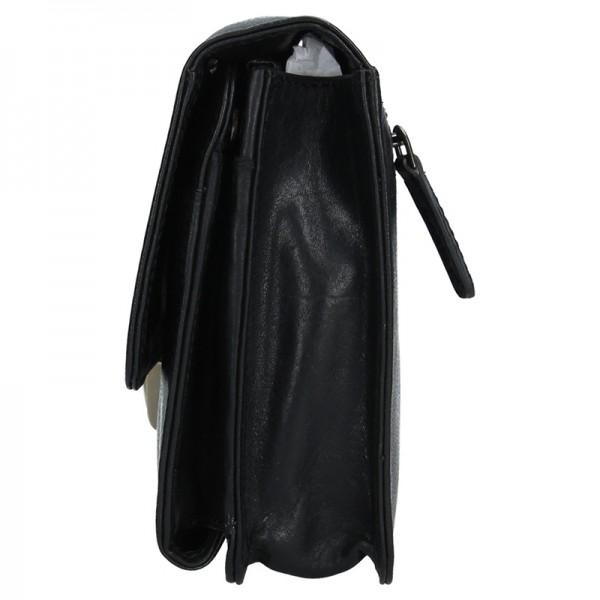 Pánské kožené etue Lagen Moriss - černá