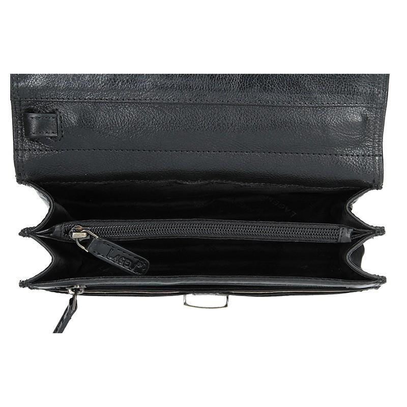 Pánské kožené etue Lagen Oliver - černá