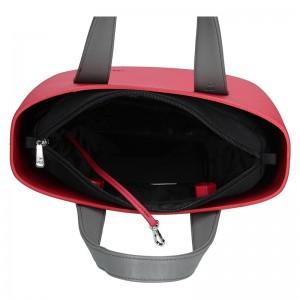 Dámská trendy kabelka Ju'sto J-Half Abbie - černo-červená