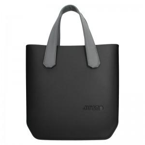 Dámská trendy kabelka Ju'sto J-Half Abbie - černo-šedá