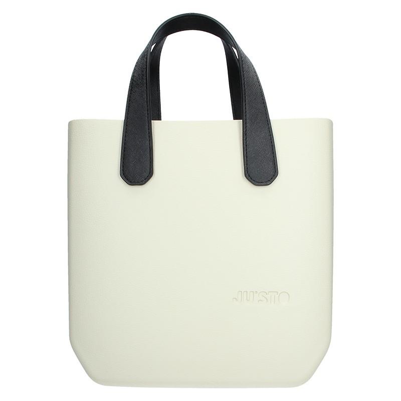 Dámská trendy kabelka Ju sto J-Half Grace - krémovo-černá 5ba0d72f2e