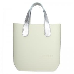 Dámská trendy kabelka Ju'sto J-Half Grace - krémovo-stříbrná