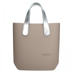 Dámská trendy kabelka Ju'sto J-Half Nicole - béžovo-stříbrná