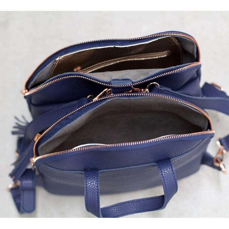 Dámský batůžek Doca 12933 - modrá