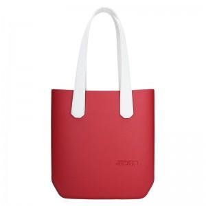 Dámská trendy kabelka Ju'sto J-Half long Sabrina - červeno-bílá