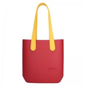 Dámská trendy kabelka Ju'sto J-Half long Sabrina - červeno-žlutá