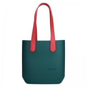 Dámská trendy kabelka Ju'sto J-Half long Emma - zeleno-červená