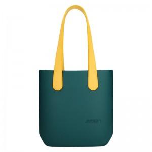 Dámská trendy kabelka Ju'sto J-Half long Emma - zeleno-žlutá