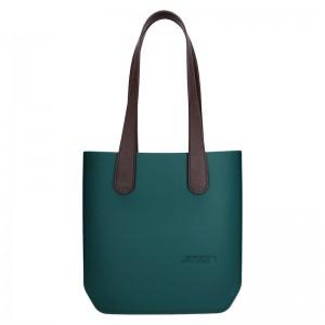 Dámská trendy kabelka Ju'sto J-Half long Emma - zeleno-hnědá