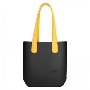Dámská trendy kabelka Ju'sto J-Half long Abbie - černo-žlutá