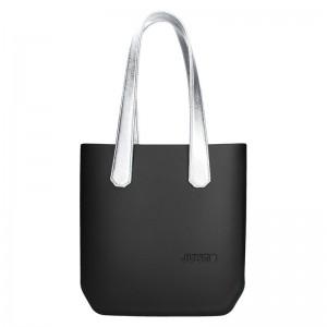 Dámská trendy kabelka Ju'sto J-Half long Abbie - černo-stříbrná