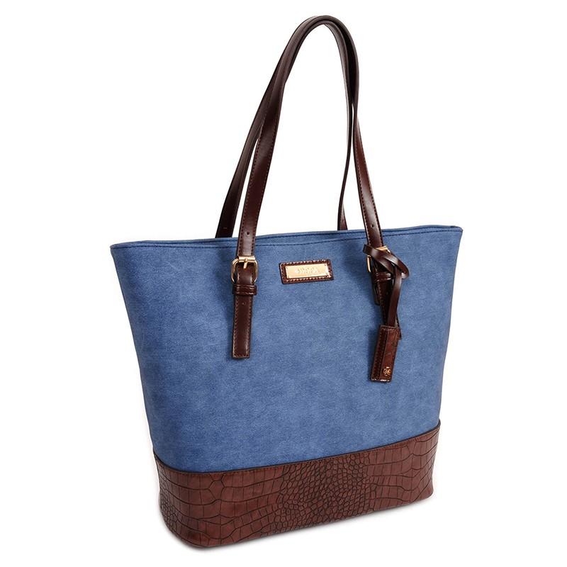 Dámská kabelka Doca 13473 - modrá
