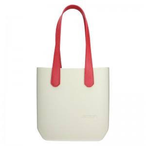 Dámská trendy kabelka Ju'sto J-Half long Grace - krémovo-červená