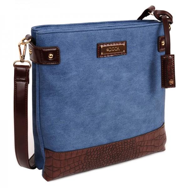 Dámská crossbody kabelka Doca 13477 - modrá