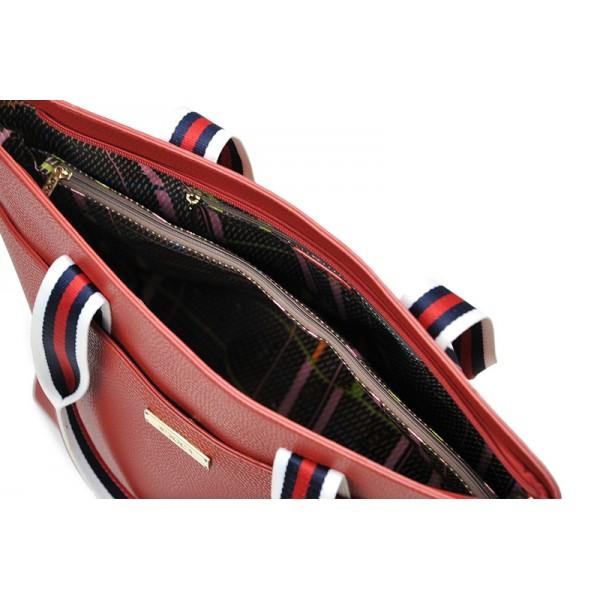 Dámská kabelka Doca 13523 - červená