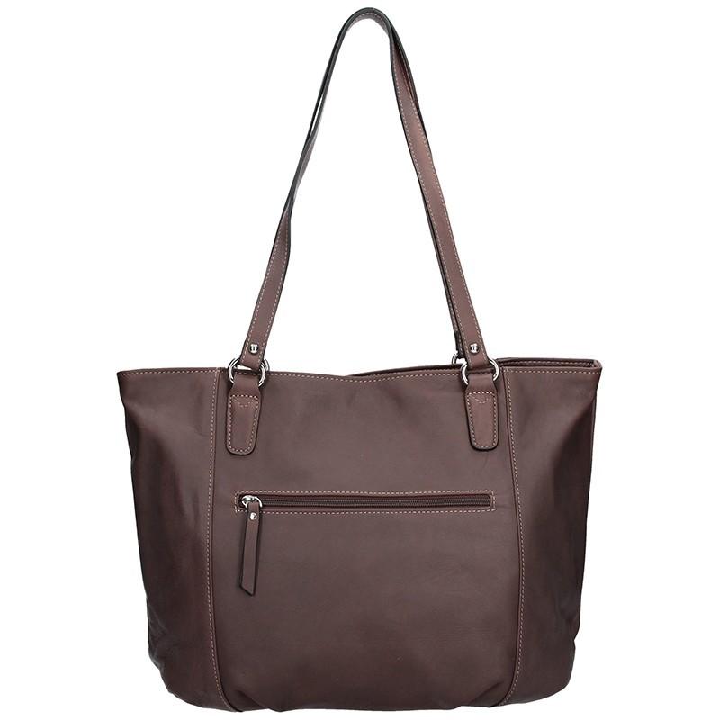 Elegantní dámská kožená kabelka Katana Apolen - červená