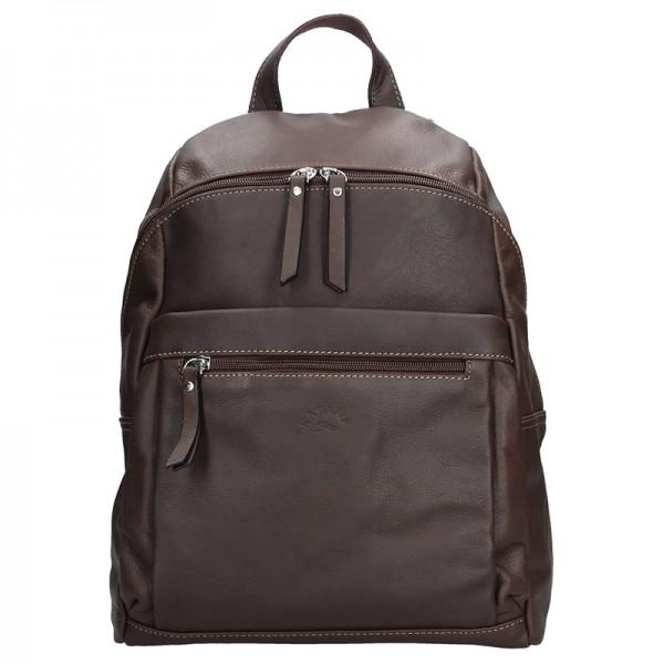 Dámský kožený batoh Katana 81505 - tmavě hnedá