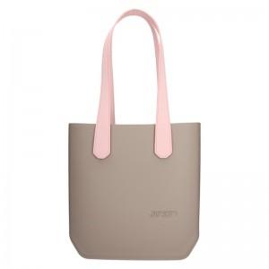 Dámská trendy kabelka Ju'sto J-Half long Nicole - béžovo-růžová