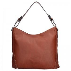 Elegantní dámská kožená kabelka Katana Nicol - tmavě hndá