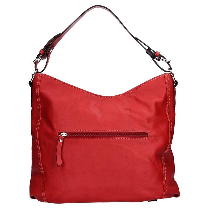 Elegantní dámská kožená kabelka Katana Nicol - červená