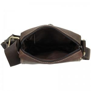 Pánská taška přes rameno Always Wild Tibor - tmavě hnědá