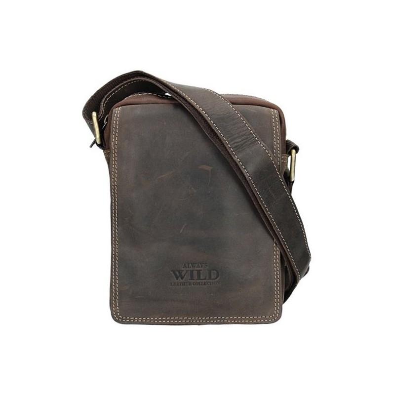 03b81ad986 Pánská taška přes rameno Always Wild Tibor - tmavě hnědá