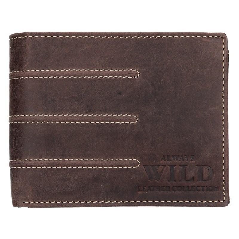 Pánská kožená peněženka Always Wild Peter - hnědá