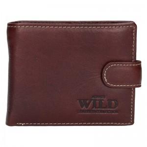 Pánská kožená peněženka Always Wild Tibor - černo-šedá