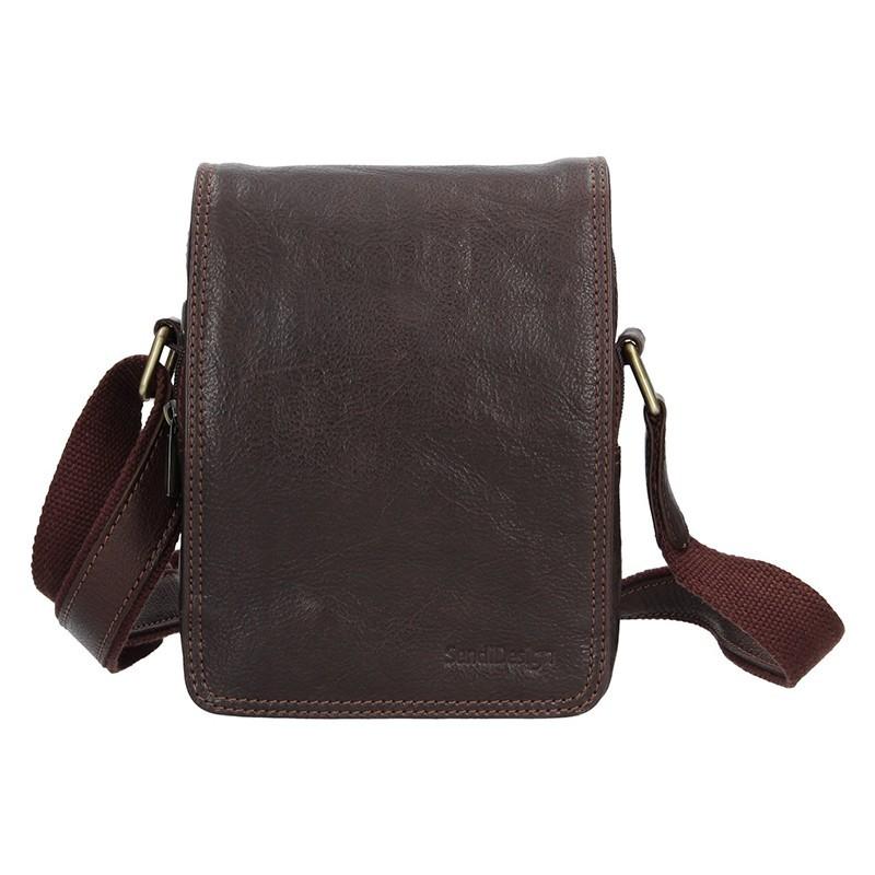 Pánská kožená taška přes rameno SendiDesign Benedikt - hnědá