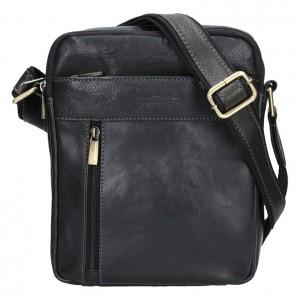 Pánská kožená taška přes rameno SendiDesign Gidon - černá