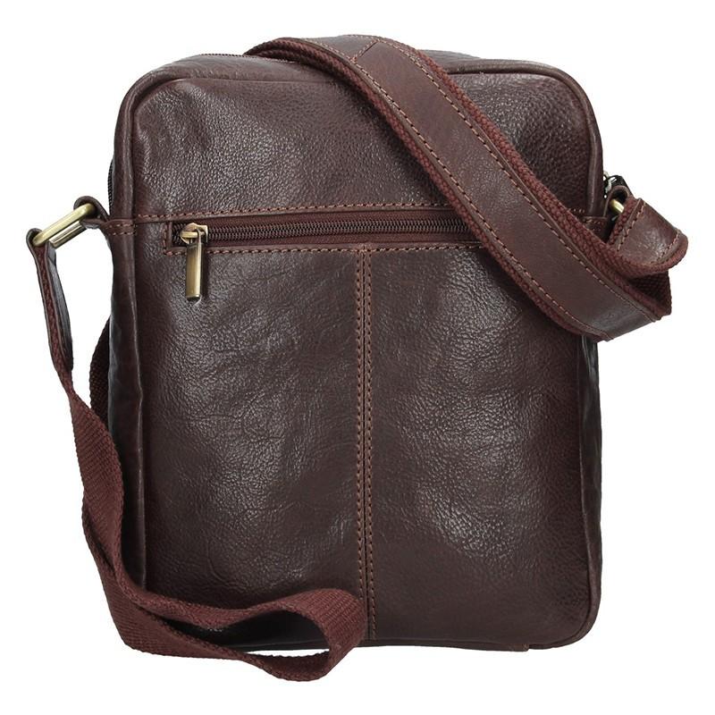 Pánská kožená taška přes rameno SendiDesign Gidon - hnědá