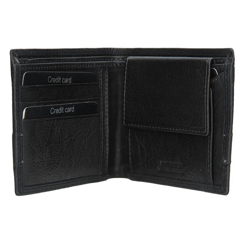 Pánská kožená slim peněženka SendiDesign Rafael - černá