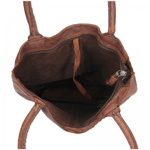 Dámská celokožená kabelka Justified Maria - hnědá