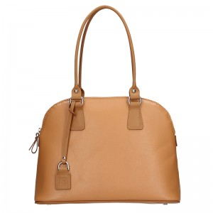 Dámská kožená kabelka Facebag Antonela - světle hnědá