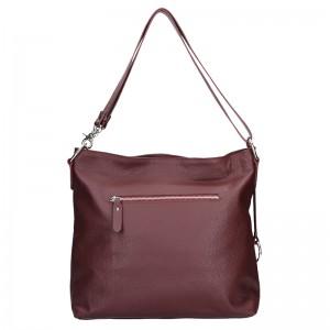 Dámská kožená kabelka Facebag Rachel - vínová