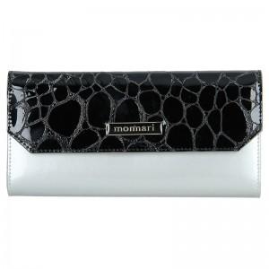 Dámská kožená peněženka Monnari Petra - stříbrno-černá