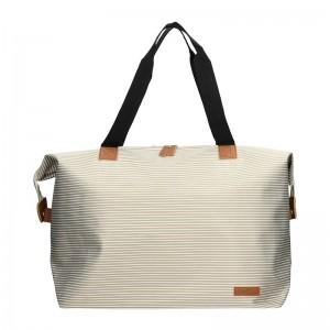 Plážová taška Piace Molto Olivia - béžová