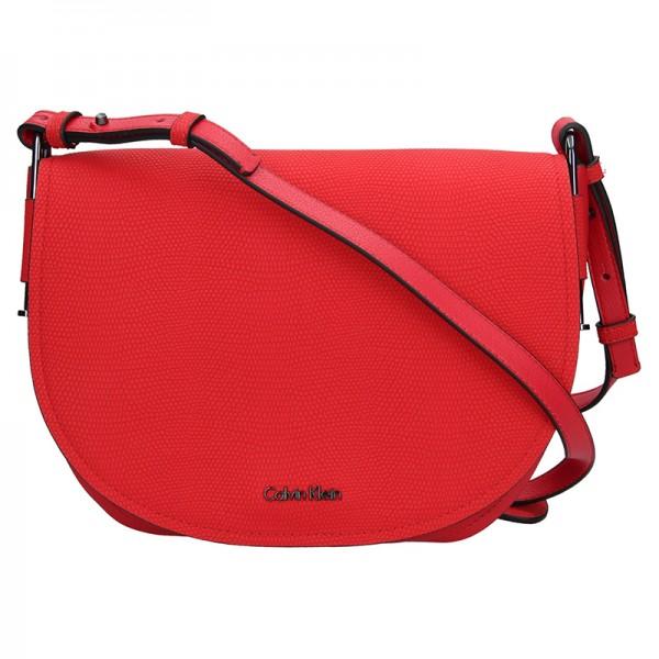 Dámská crossbody kabelka Calvin Klein Arch Large Saddle - červená