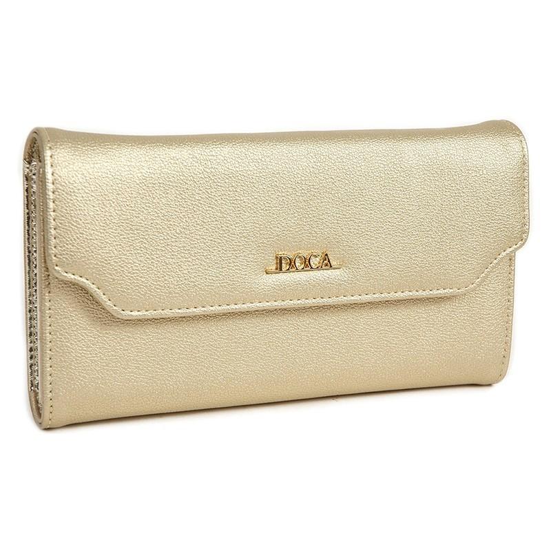 Dámská peněženka Doca 64697 - zlatá
